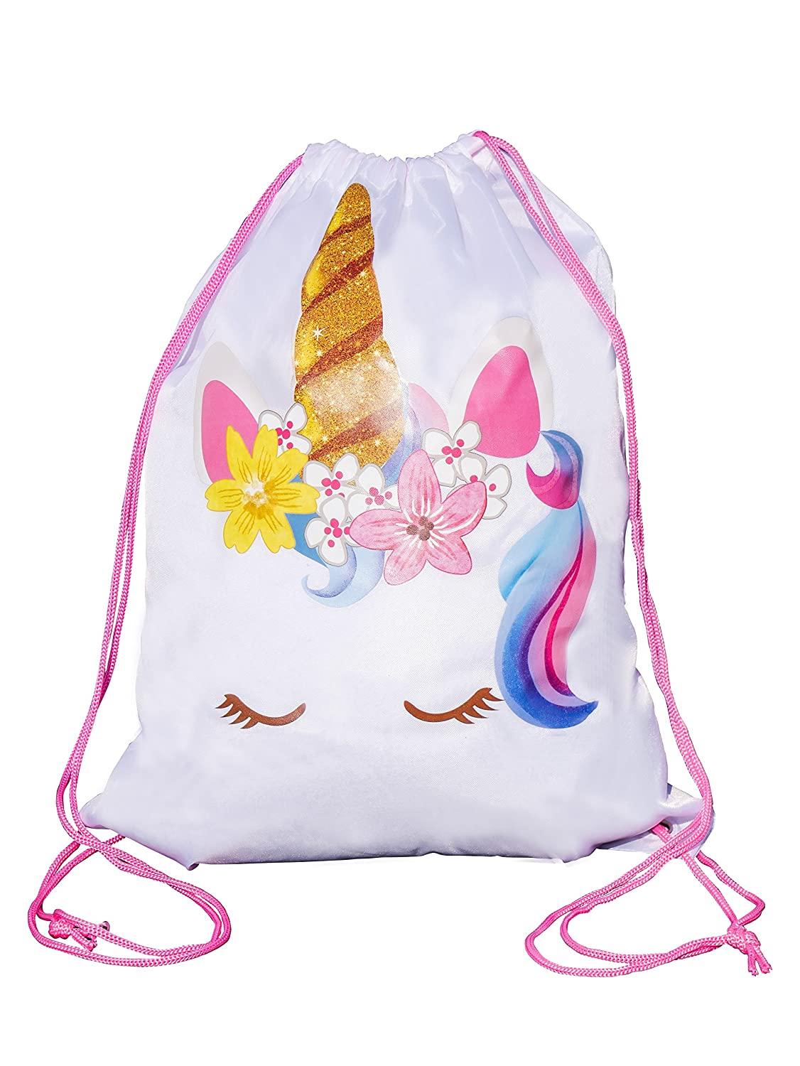 Twinkle Unicorn Unicorn Drawstring Bag, Unicorn Party Favor Bag, Overnight Bag (1) G&N Merchandise