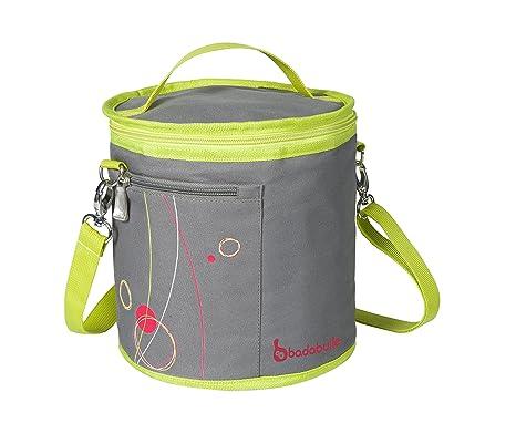 Badabulle Bolsa isotérmica color gris y verde - B043302: Amazon.es ...