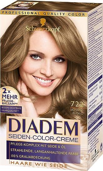 Schwarzkopf Diadem Seiden Color Creme 722 Dunkelblond Stufe 3 3er Pack 3 X 180 Ml