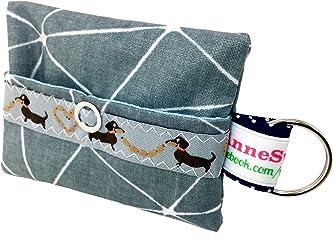Kackbeutel Muster grau Hundekotbeutel Spender Hundetüte Leckerli Tasche aus Wachstuch Gassi gehen Waste Geschenk Hundebesitzer Poop Bag Chien