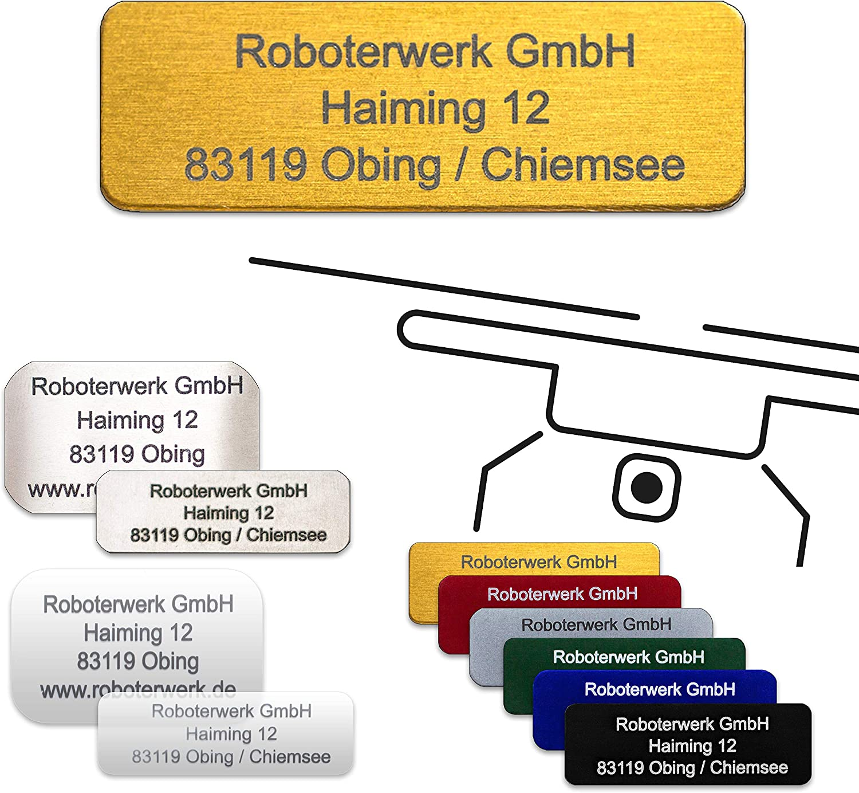 Titane Roboterwerk Plaque de signalisation de dro/ïde en Verre Plaque de Plaque dimmatriculation // Plaque dimmatriculation Plaque de Pilote Aluminium avec Carte Pilote
