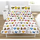 Emoji Multi Emojis Duvet Set, Double