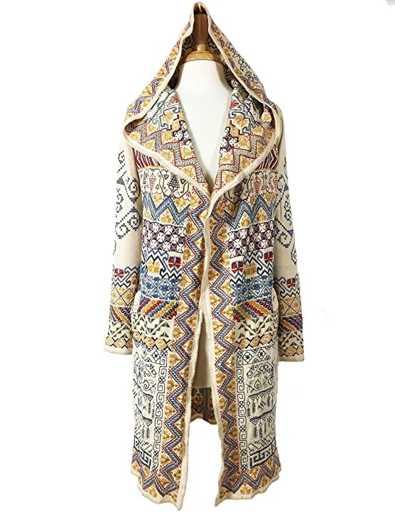 Vintage Coats & Jackets | Retro Coats and Jackets Johnny Was Alfa Hooded Duster - B55419-2 $349.00 AT vintagedancer.com