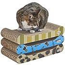 Milo & Misty 3-teiliges Gemustertes Katzenkratzbrett Set