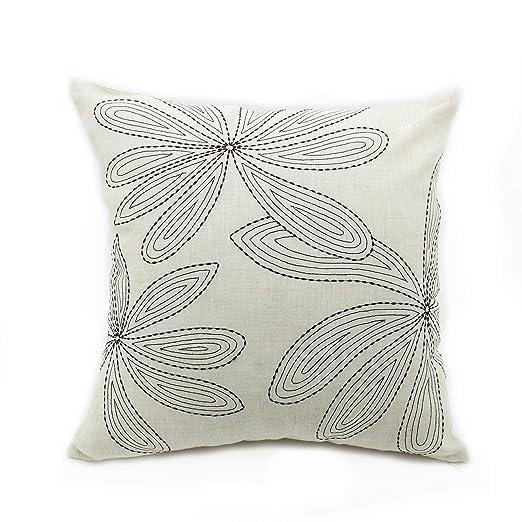 Funda de almohada decorativo diseño de hojas de marrón ...
