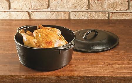 铸铁很流行 烧菜真的特别香!Lodge 5夸脱荷兰多功能铸铁锅