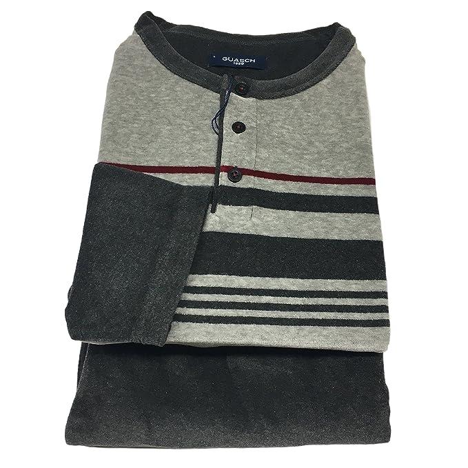 vendite calde 4b5ce a2f89 GUASCH pigiama uomo ciniglia grigio 80% cotone 20 ...