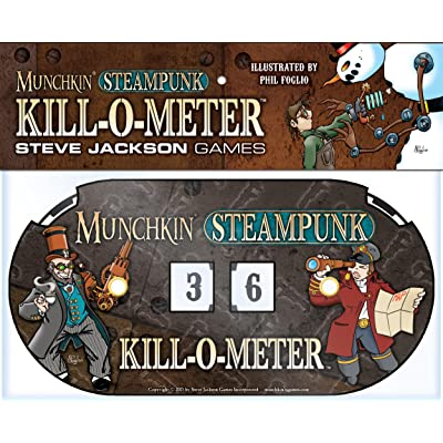 Steve Jackson Games Munchkin Steampunk Kill-O-Meter Card Game: Toys & Games