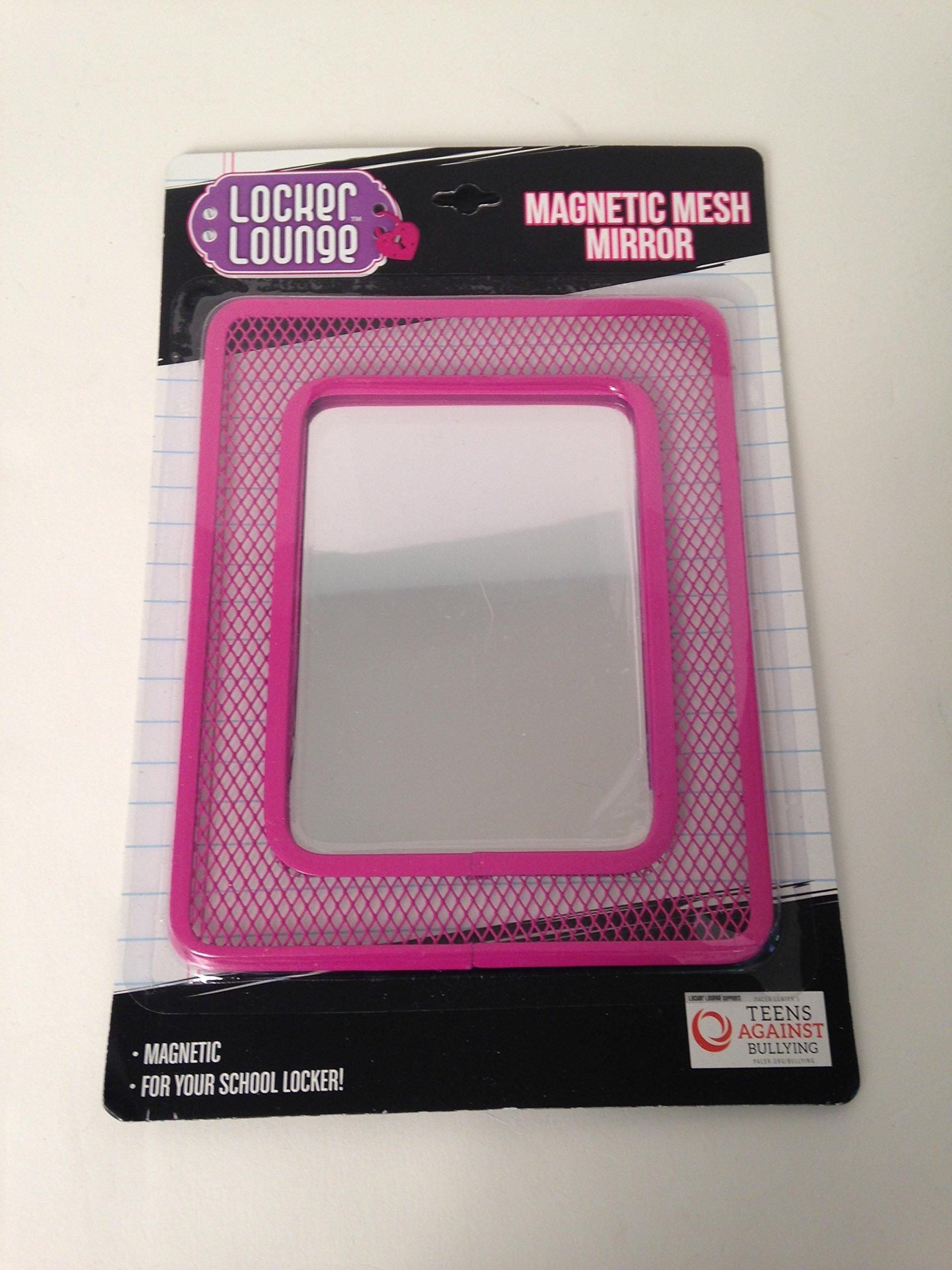 Locker Lounge Magnetic mesh mirror pink