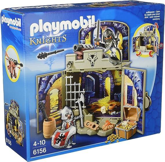 Playmobil 6156 - Cofre caballeros del tesoro, 89 piezas: Amazon.es: Juguetes y juegos