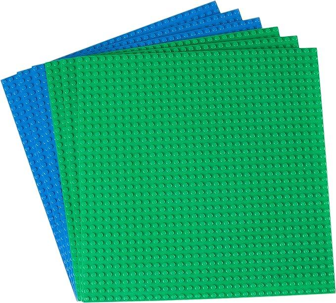 in Azura Blau 2x Bau Platte 6 x 8 Noppen Lego Basic