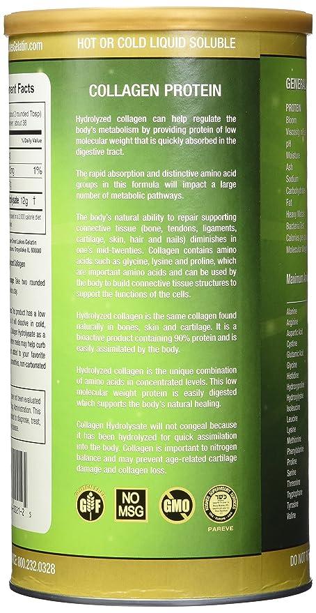 Los Grandes Lagos gelatina, Colágeno hydrolysate (Kosher) 16-ounce: Amazon.es: Salud y cuidado personal
