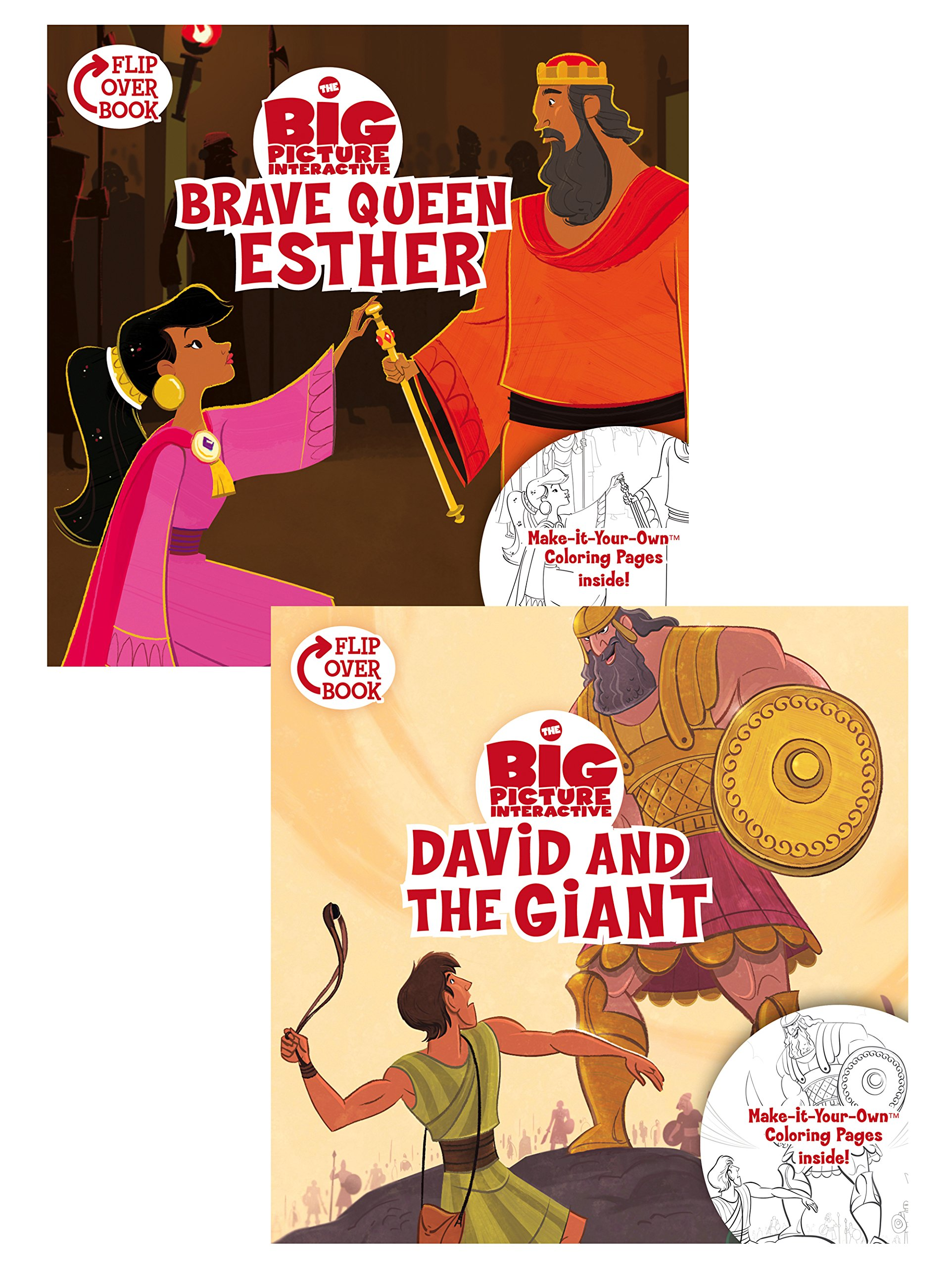 Read Online Brave Queen Esther/David and the Giant Flip-Over Book (The Big Picture Interactive / The Gospel Project) PDF