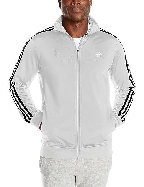 Adidas Hombre Esencial Chaqueta de Tricot - S15APM0040V, L, Blanco/Negro