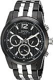 Armitron Men's 20/4991BKTB Multi-Function Silver-Tone and Black Bracelet Watch