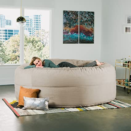 Brilliant Amazon Com Jaxx Cocoon 8 Foot Huge Sleeper Bean Bag Bed Machost Co Dining Chair Design Ideas Machostcouk