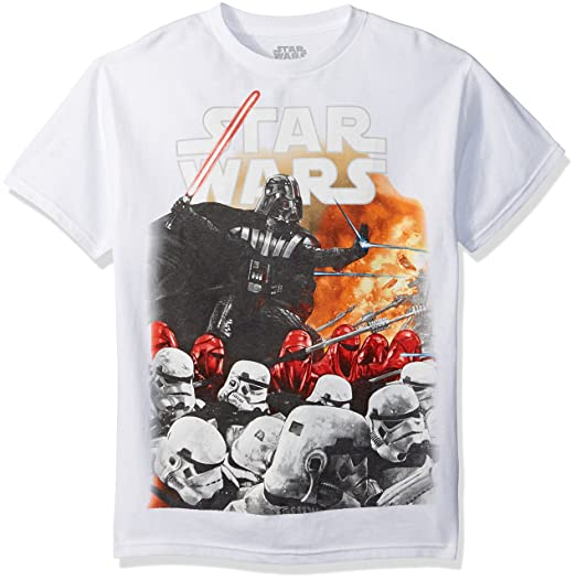 e7f36492 Amazon.com: Star Wars Men's Extermination Short Sleeve T-Shirt: Clothing