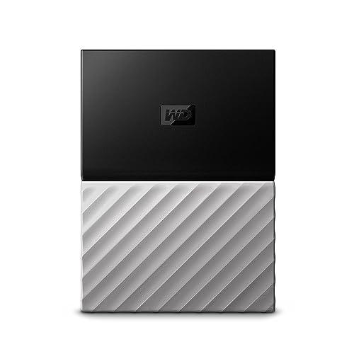 WD My Passport Ultra Disque Dur Externe Portable 4To avec Sauvegarde Automatique pour PC, Xbox One et Playstation 4 - Noir/Argenté