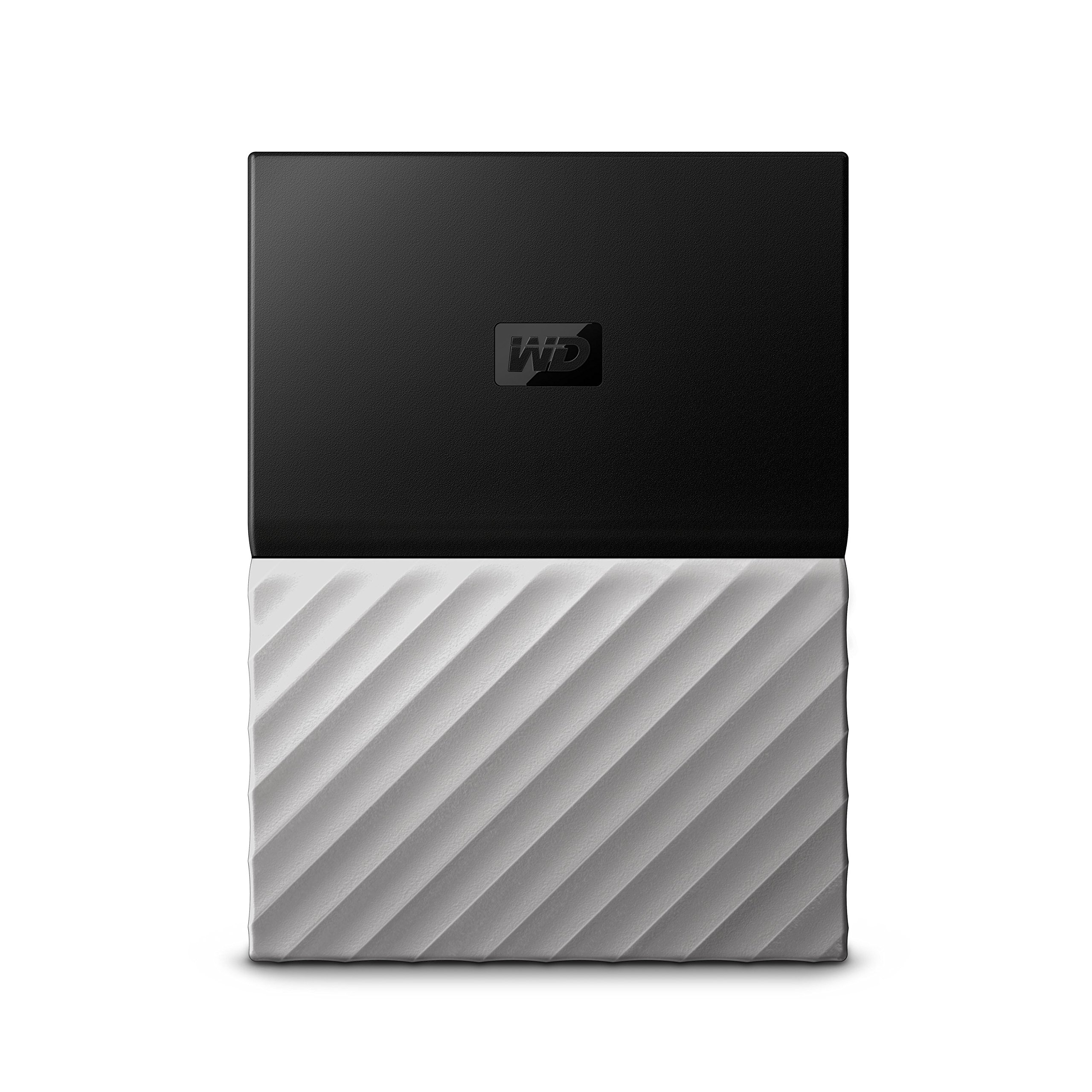 WD 1TB Black-Gray My Passport Ultra Portable External Hard Drive - USB 3.0 - WDBTLG0010BGY-WESN