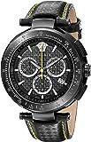 Versace Men's I8C60D008 S009 Mystique Black IP Chronograph Tachymeter Watch