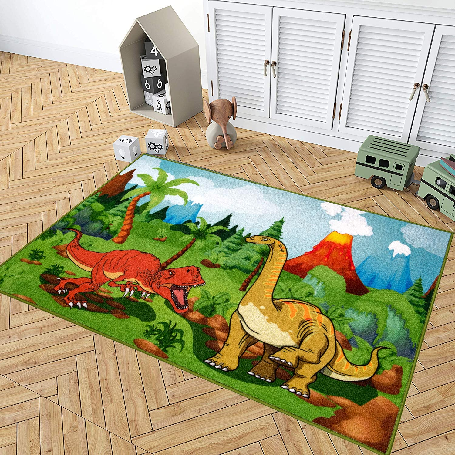 Kid Rugs Dinosaur Activity Area Rug 39 X59 Educational Learning Carpet For Boys And Girls Fun Rug Playmat For Bedroom Living Room And Gameroom Fun Play Rug For Boys And Girls Amazon Ca Home Kitchen
