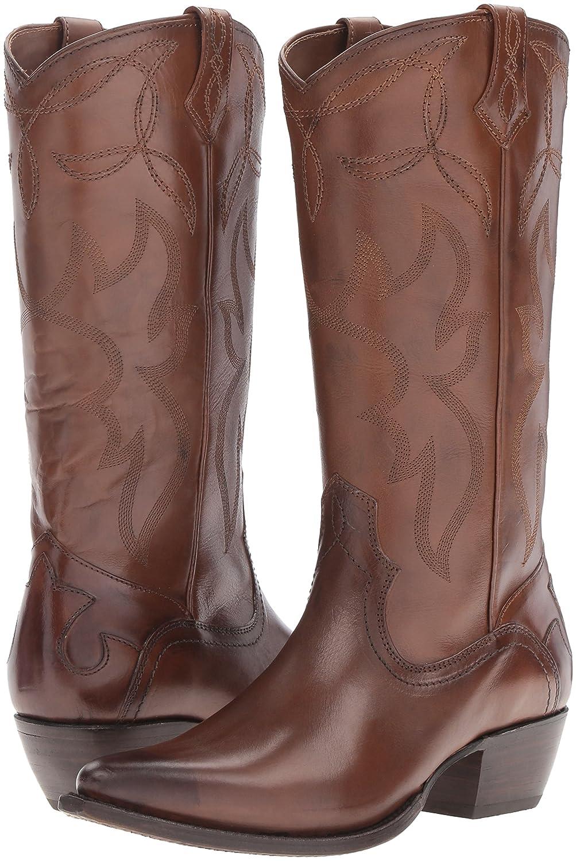 FRYE Women's Shane Embroidered Tall Western Boot B01BMRWU84 6 B(M) US|Whiskey