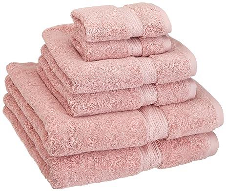 Amazoncom Superior 900 GSM Luxury Bathroom 6Piece Towel Set