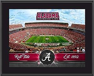 """Alabama Crimson Tide 10"""" x 13"""" Sublimated Team Stadium Plaque - College Team Plaques and Collages"""