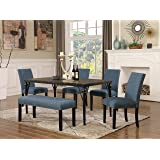 Amazon Com 5pc Dining Dinette Table Chairs Amp Bench Set