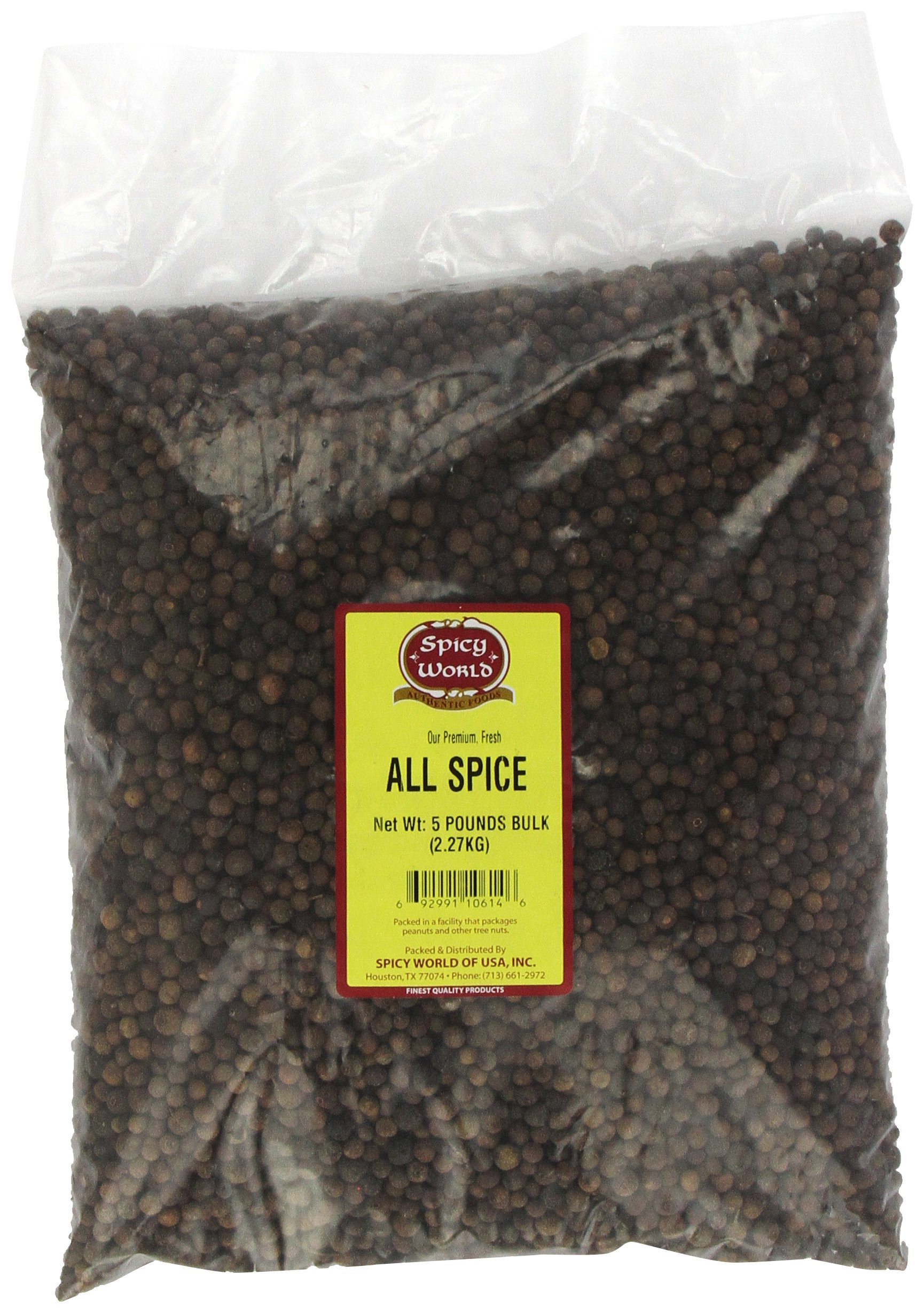 Spicy World All Spice Whole Bulk, 5-Pounds