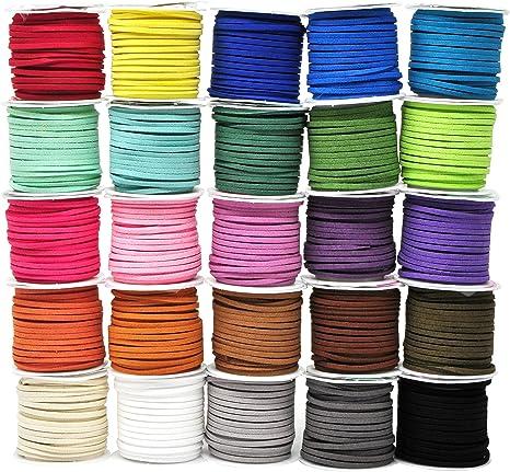 Cable Plano De Gamuza ten 18 mm para la fabricación de joyas opciones de color