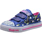 Skechers Shuffles Glitter N Glitz, Girls' Low-Top Sneakers
