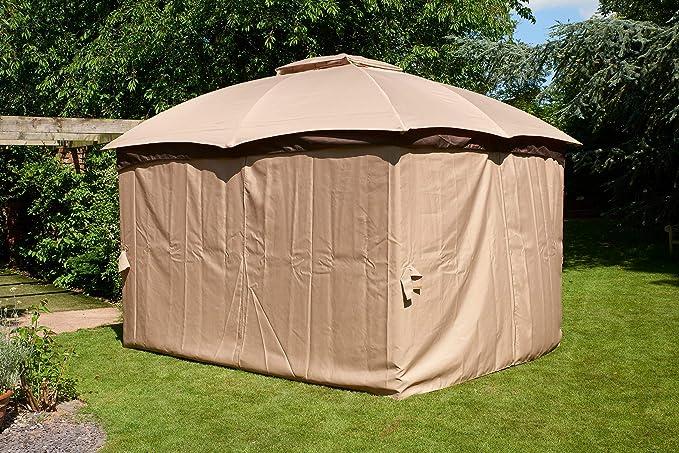 Glendale Rio - Cenador de Metal (3 x 3, 65 m), Color marrón: Amazon.es: Jardín
