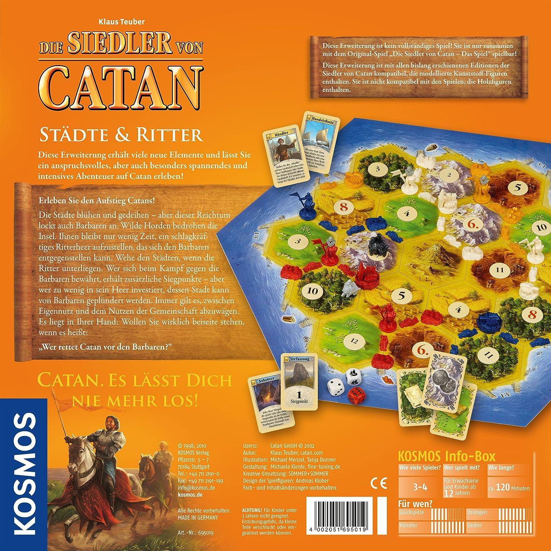 KOSMOS 695019 Colonos de Catan Ciudades y Caballeros 3-4 jugadores, Lenguaje Aleman