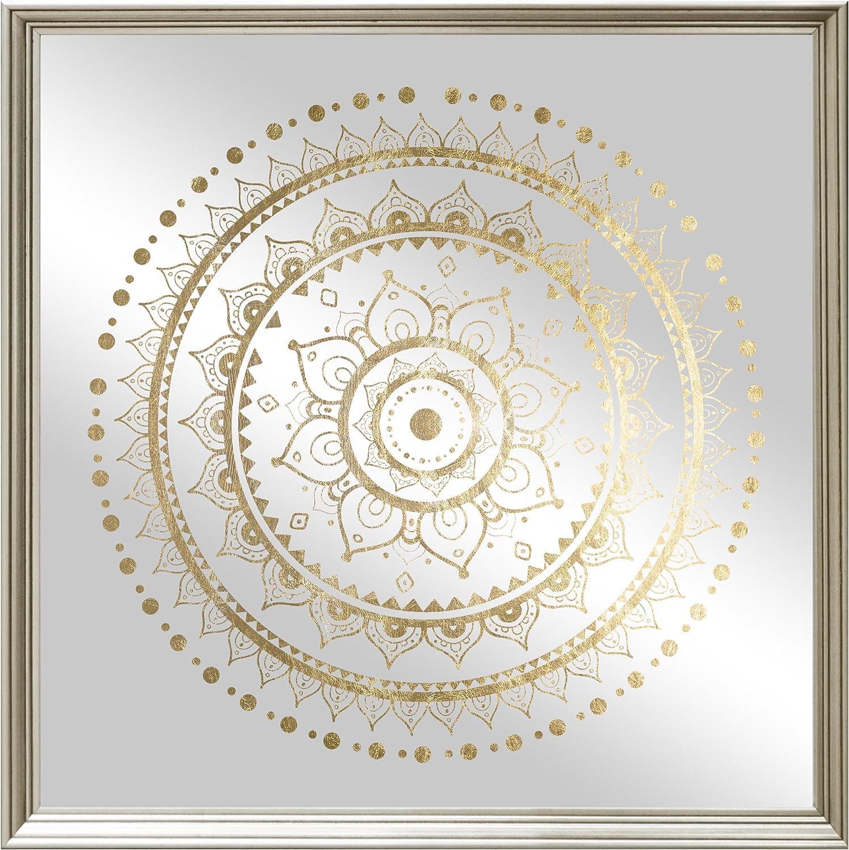 Oliver Gal 20438 20x20 Mir Liam Mandala Foil And Natural Wood Mirror Print Wall Art Decor 20 X 20 Gold Posters Prints