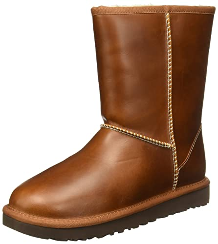 98a2e42bc83a Ugg Australia Womens Classic Short Leather Boots