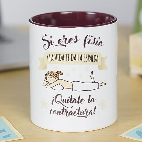 La Mente es Maravillosa - Taza frase y dibujo divertido (Si eres fisio y la vida te da la espalda ¡Quítale la contractura!) Regalo Fisioterapeuta