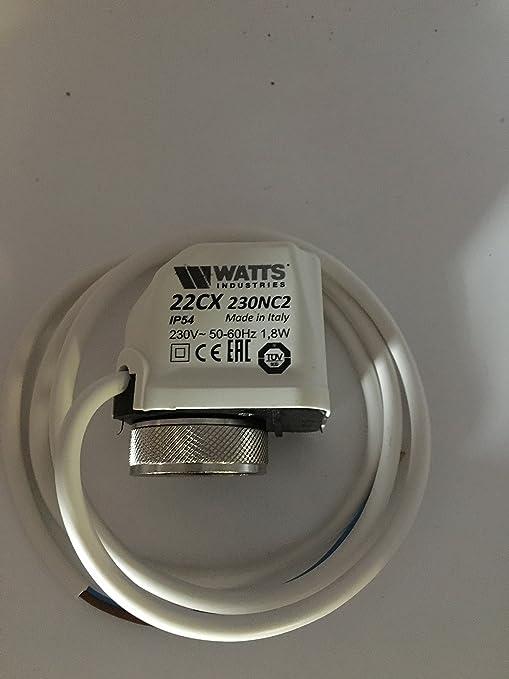 Watts eléctrico thermis ergonómico de 230 V actuador, M30 X 1,5, adecuado