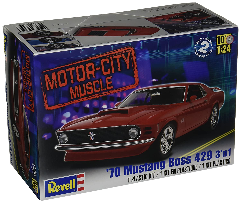 Amazon com revell 124 70 mustang boss 429 3 n 1 toys games