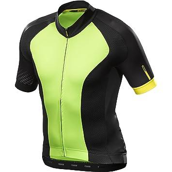25838bc98 Mavic Cosmic Elite Cycling Jersey Green Black (2018