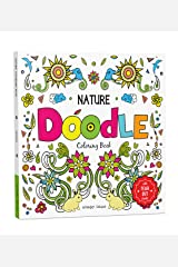 Nature Doodle Coloring Book: Children Coloring Book with Tear Out Sheets Paperback