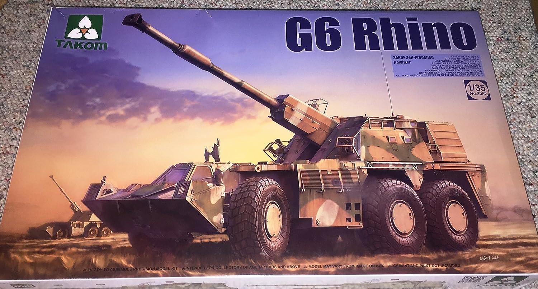 TAKOM 1/35 南アフリカ軍 155mm自走榴弾砲 G6ライノ プラモデル TKO2052 B01JZ52GB6