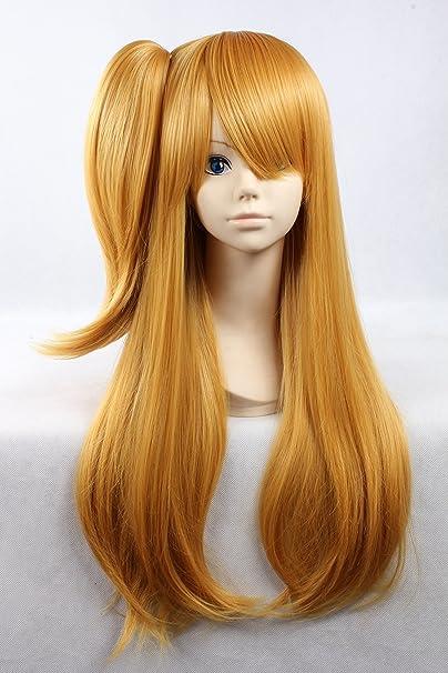 Cosplay peluca rubia peluca rubia larga peluca de Lucy Elfen Lied Pelucas