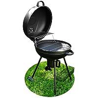 Kugelgrill klein schwarz Kettle Grill Garten Camping Balkon Picknick ✔ Deckel ✔ rund ✔ tragbar ✔ Grillen mit Holzkohle
