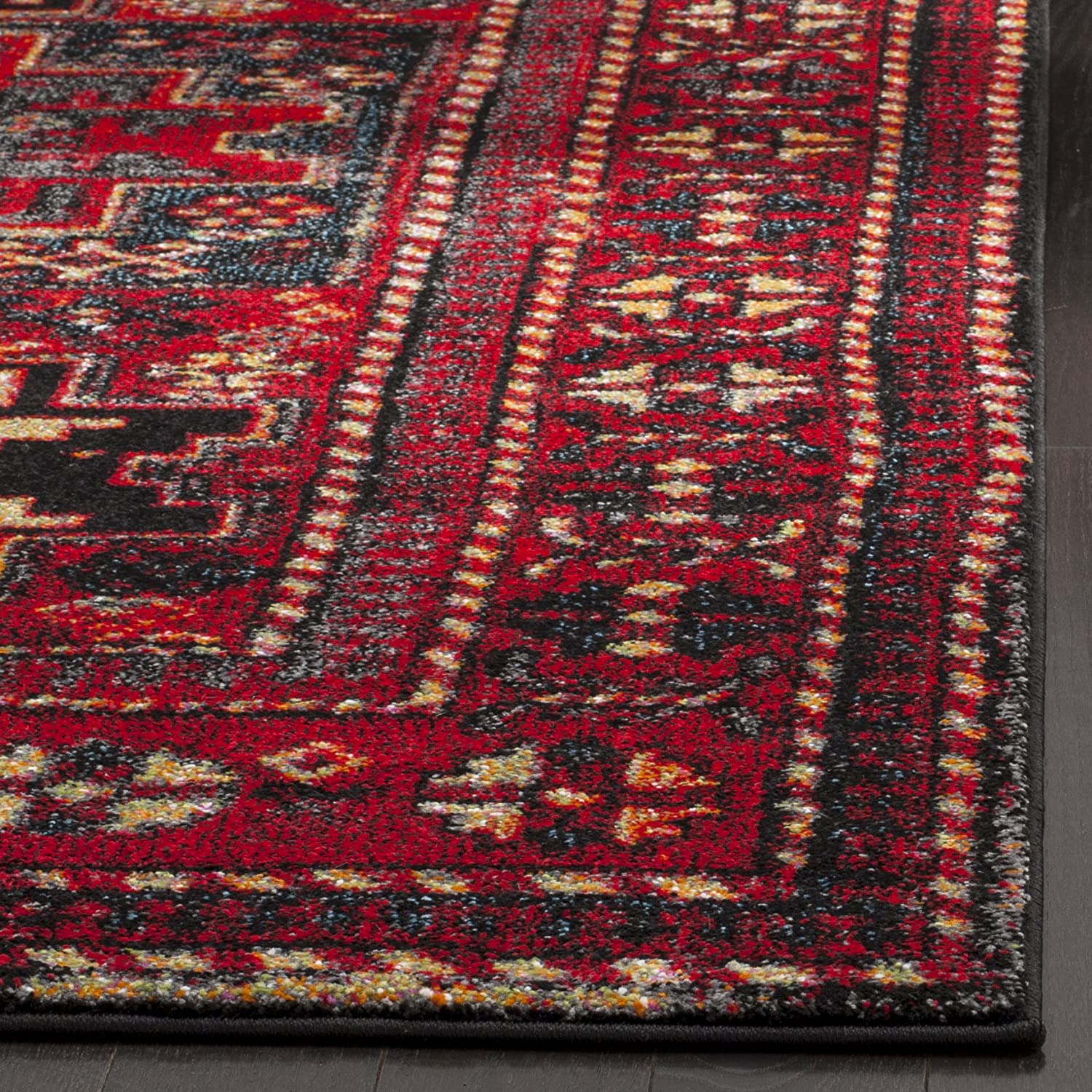 5x8 Hamadan Authentic Rugs Deals Direct Handmade Persian: Safavieh Vintage Hamadan Collection VTH213A Antiqued Red