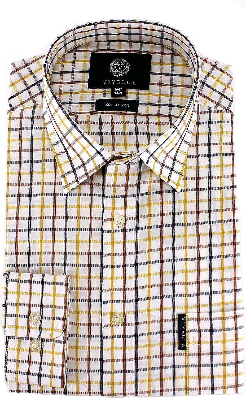 Viyella - Camisa casual - para hombre amarillo Mostaza ...