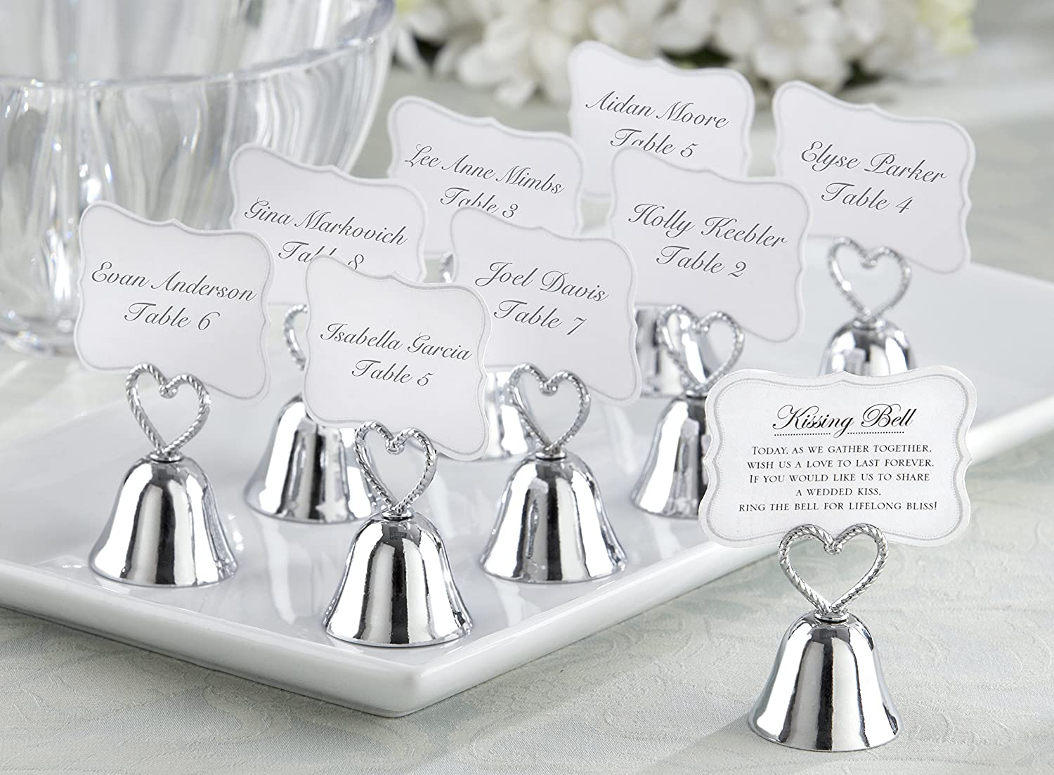 Amazon.com: Kate Aspen (set of 24) Kissing Bells Place Card Holders ...