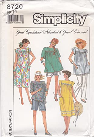 8b86871f78a9a Image Unavailable. Image not available for. Color: Simplicity Sewing  Pattern 8720 Misses Maternity Pants ...