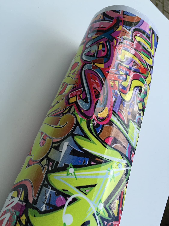 200x152cm Stickerbomb Graffiti Urban small - Autofolie Blasenfrei mit Luftkanä le car wrapping *GRATIS Montageanleitung 19, 99€ /1qm opvc