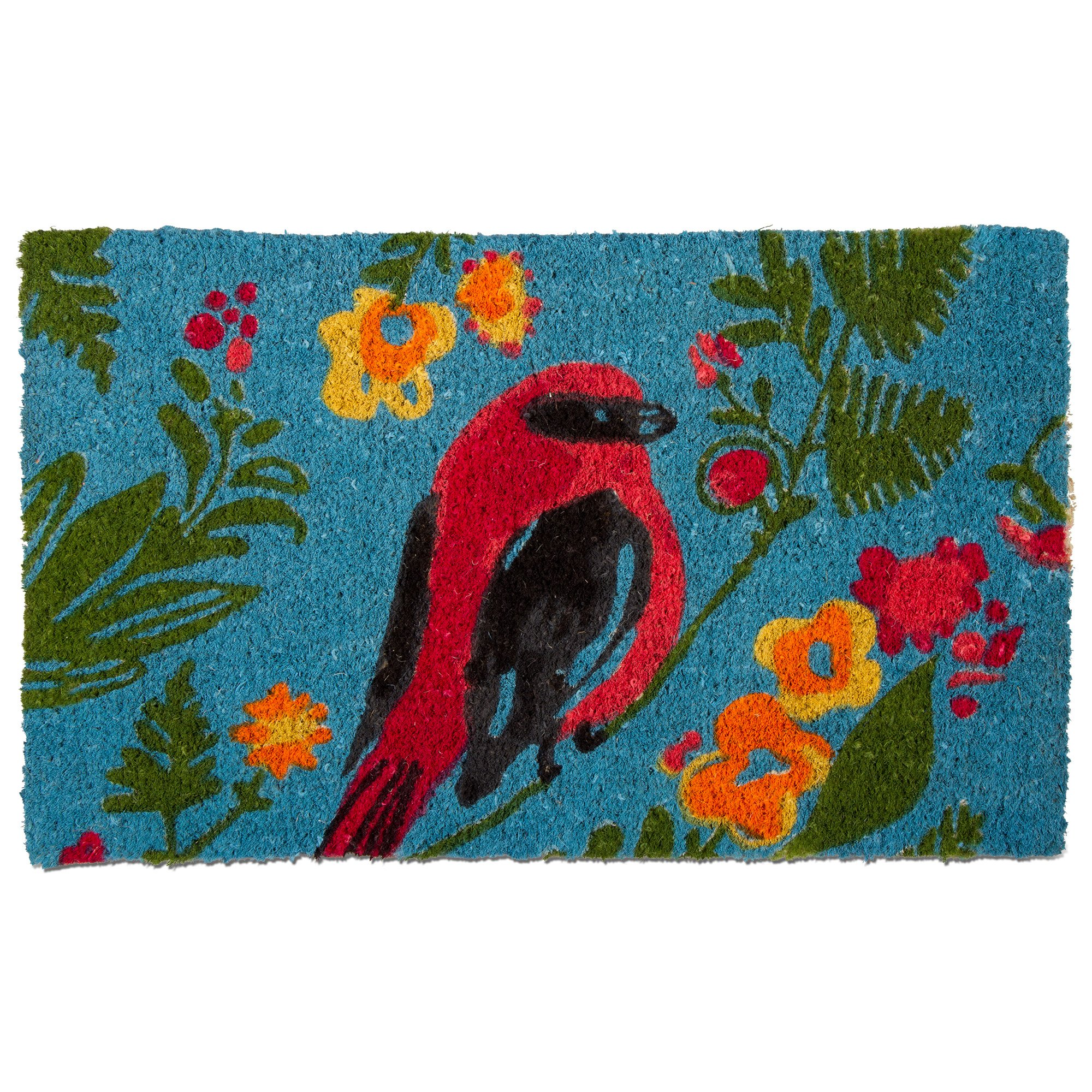 tag - Song Bird Coir Mat, Decorative All-Season Mat for the Front Porch, Patio or Entryway, Multi